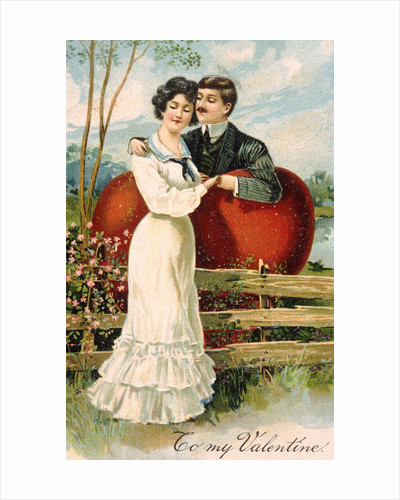 To My Valentine Postcard with Couple by Corbis