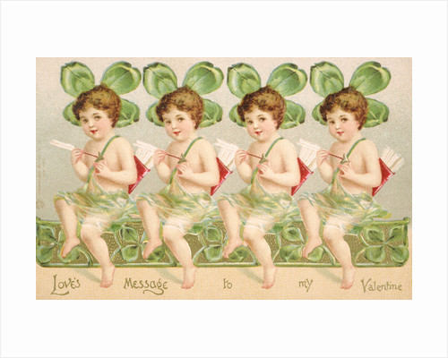 Love's Message to My Valentine Victorian Valentine by Corbis