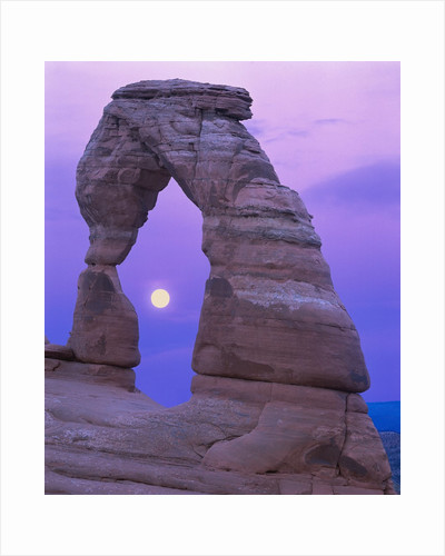 Moon Framed by the Delicate Arch by Corbis