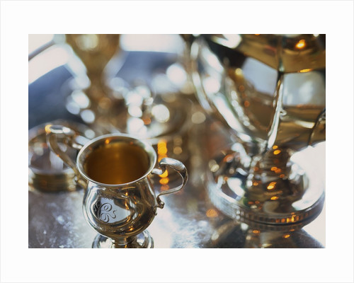 Silver Tea Service by Corbis