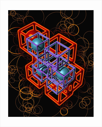 Spheres and Cubes by Corbis