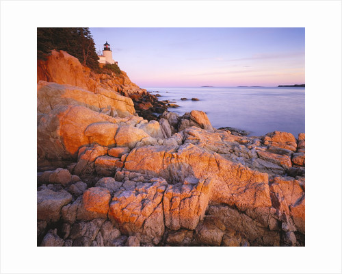 Bass Harbor Head Lighthouse at Sunset by Corbis