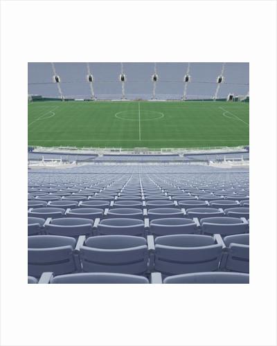 Empty Soccer Field by Corbis
