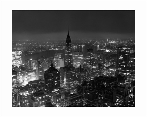 New York City at Night by Corbis