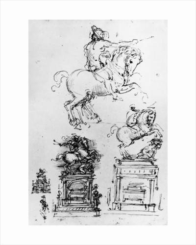 Study for the Trivulzio Monument by Leonardo da Vinci