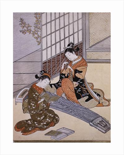 Playing the Koto by Suzuki Harunobu