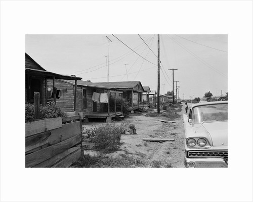 Poverty in America: Shacks in Belzoni, Mississippi 1967 by Corbis