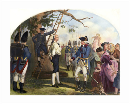 Nathan Hale Led to His Execution Illustration by Corbis
