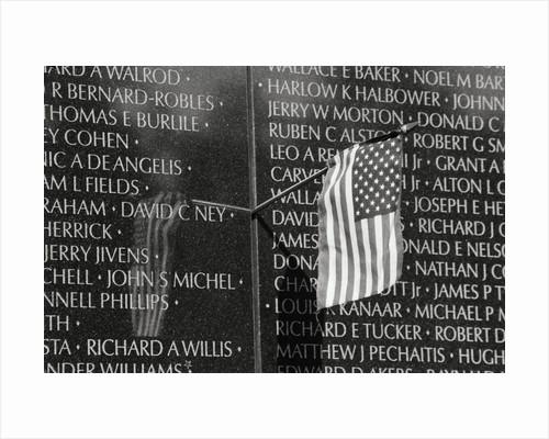 Flag at Vietnam Veterans Memorial by Corbis