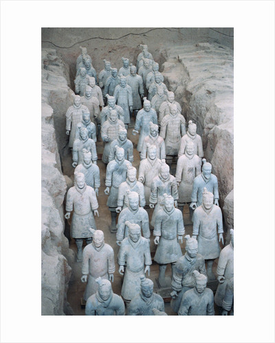 Terra Cotta Soldiers in Qin Shi Huangdi Tomb by Corbis