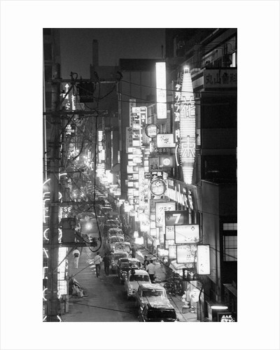 Overview of Downtown Nightlife in Tokyo by Corbis