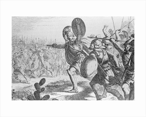 Illustration Showing the Battle of Thermopylae by Corbis