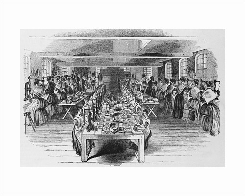 Buttons Factory, Woodcut, 19Th Century by Corbis