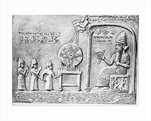 Sun worship In Assyria by Corbis