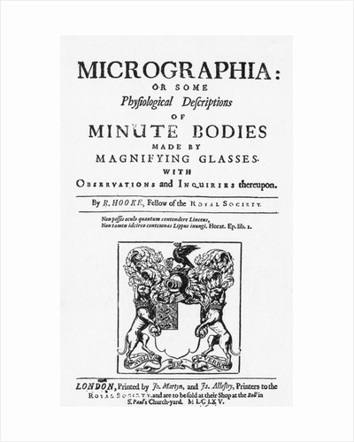 Title Page from Micrographia by Robert Hooke