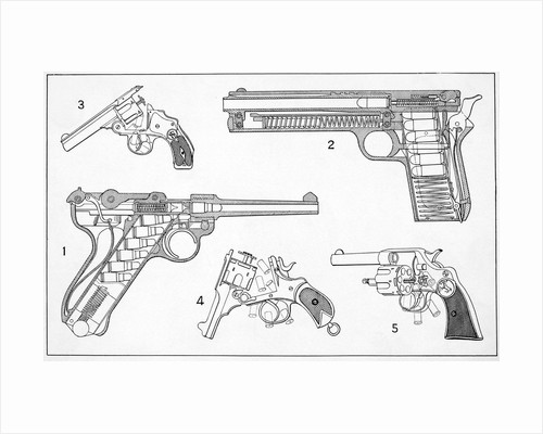 Schematic Drawings Of Pistols by Corbis