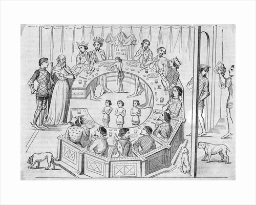 King Arthur'S Knights Of The Round Table by Corbis