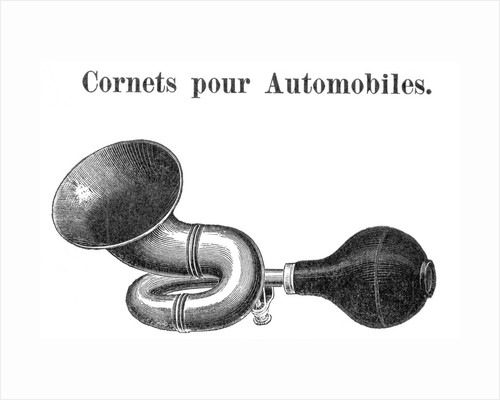 Engraving Of Automobile Horn by Corbis