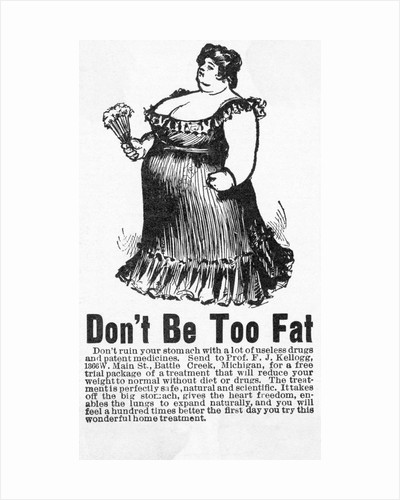 Don't Be Too Fat Kellogg Advertisement by Corbis