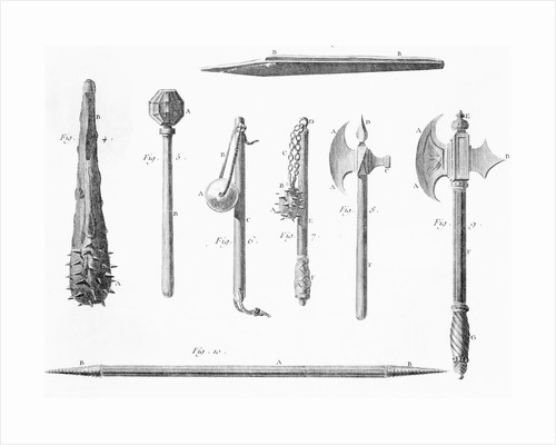 Book Illustration of Medieval Weapons by Corbis