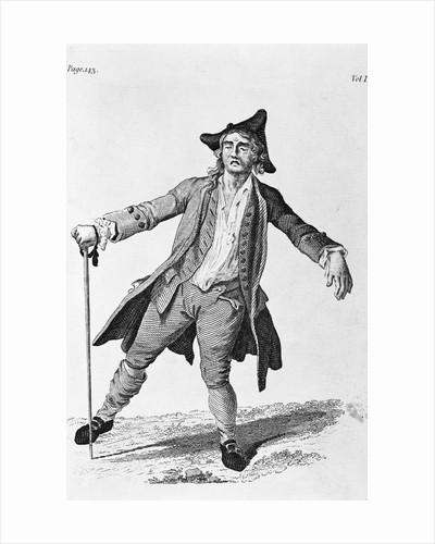 18th Century Engraving Of A Drunken Man by Corbis