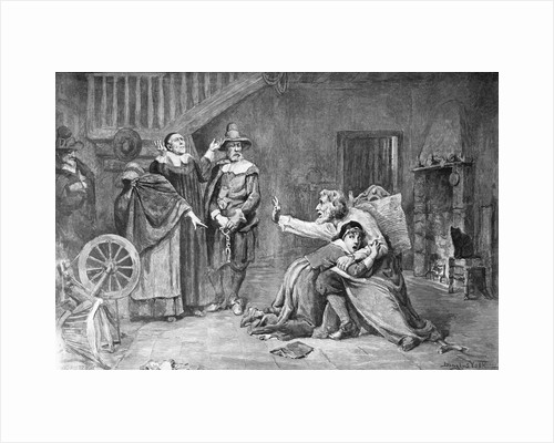 Accused Of Witchcraft In Colonial Days by Corbis