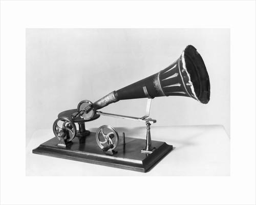 Earliest Gramophone Model by Corbis