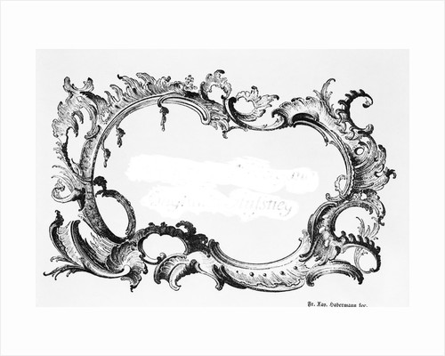 Engraving Of Baroque Frame by Corbis