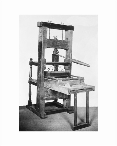 First American Printing Press by Corbis