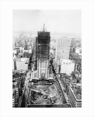 Rockefeller Center Under Construction by Corbis