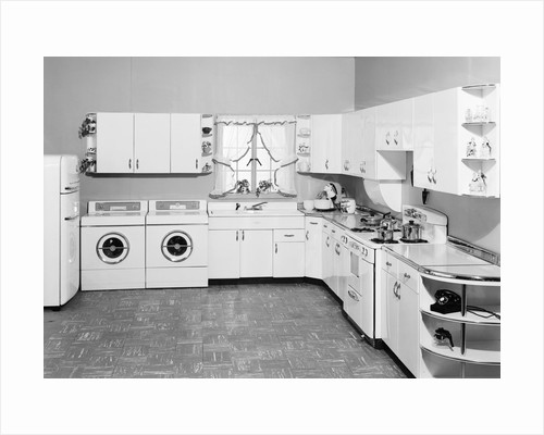 1950s Modern Kitchen by Corbis
