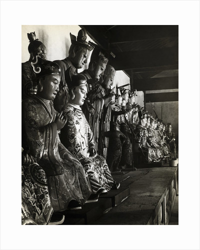 Statue Of Chinese Gods At Temple by Corbis