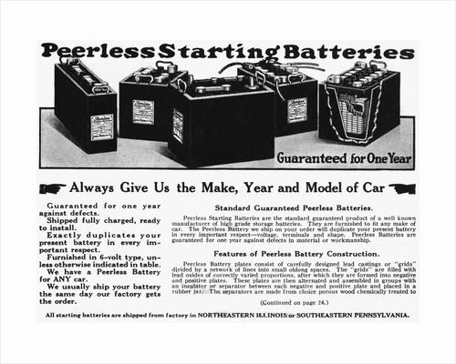 Car Battery Advertisement by Corbis