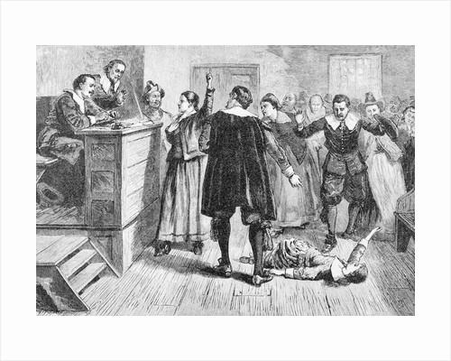 Witchcraft at Salem Village Book Illustration by Corbis