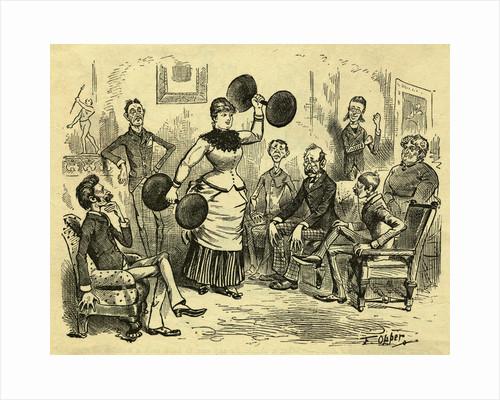 Cartoon Of Woman Lifting Dumbells by Corbis
