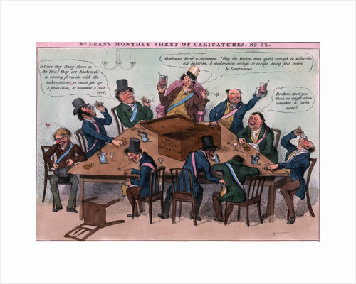 Political Cartoon Of Trade Union Meeting by Corbis