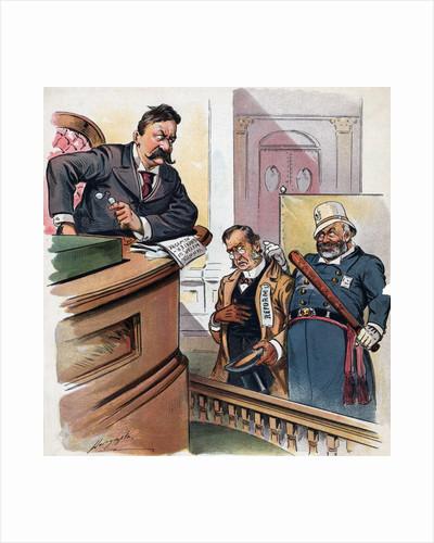 "A New Crime, Depicting a ""Habitual Reformer"" Political Cartoon by Corbis"