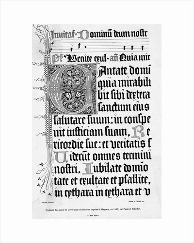 Page Of Psalm Book, With Decorative Type by Corbis