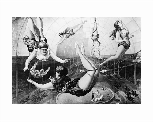 Poster Of Trapeze Artists 1890 by Corbis
