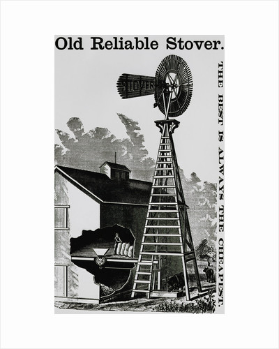 Stover Windmill Barn Cut Out Worker by Corbis