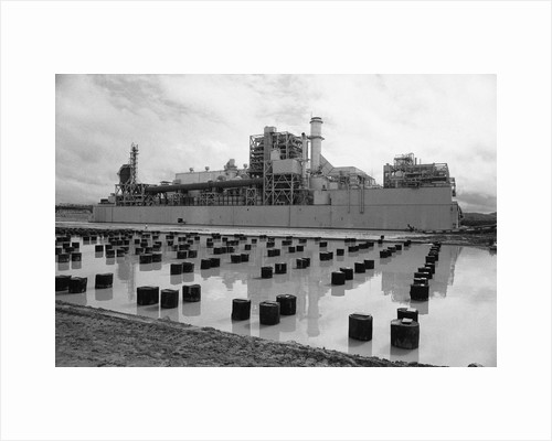 Power Plant and Prepared Foundation by Corbis