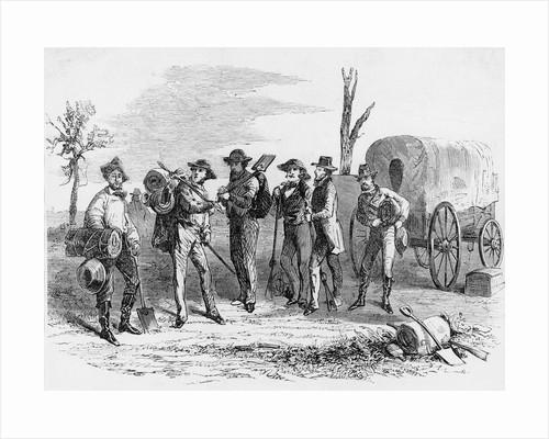 Men W/Prospecting & Mtn. Climbing Gear by Corbis