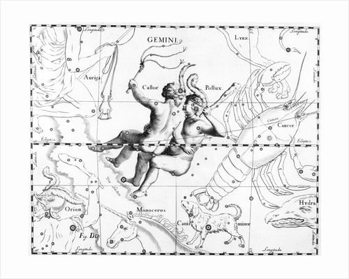 Engraving Of Constellation Gemini by Corbis