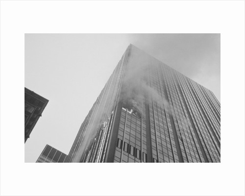 Smoke & Flame From Burning Skyscraper by Corbis