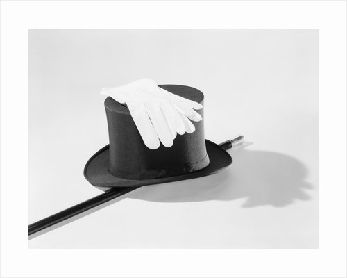 Top Hat, Cane And Gloves by Corbis
