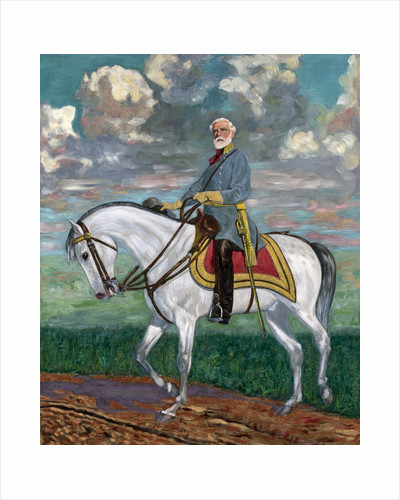 Robert E. Lee Astride Horse  - Painting by Corbis