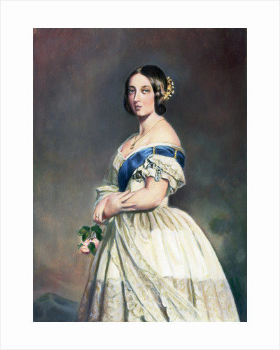 Young Queen Victoria W/Rose In Hand by Corbis