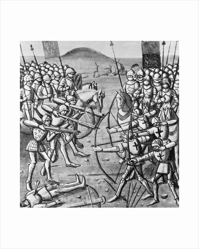 Medieval Illustration of the Battle of Crecy by Corbis