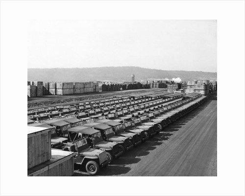 US Army Jeeps Parked at Army Depot by Corbis