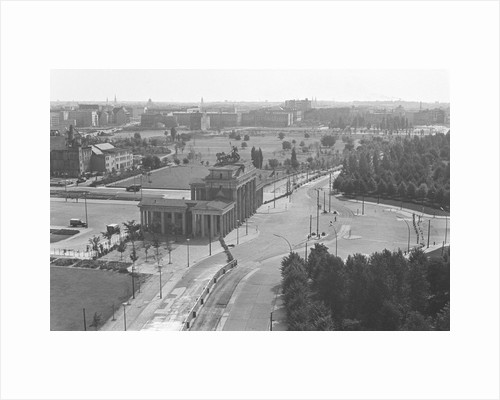 Rooftop View Of Brandenburg Gate & Wall by Corbis